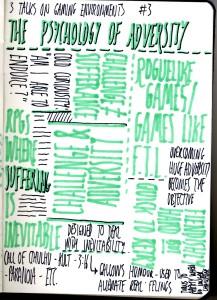 Sketchnotes - The Psychology of Adversity
