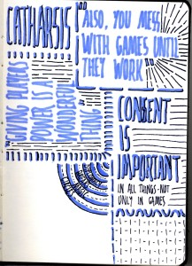 Sketchnotes - Gaming Across The Streams