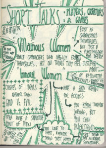 Sketchnote: Immoral Women in Games